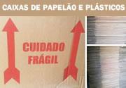 Caixa de Papelão e Plásticos Bolha