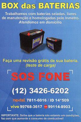 BOX das BATERIAS  Direto da Fábrica