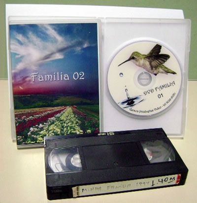 Gerson Produções em Vídeo - Cópia de VHS para DVD com Capa e DVD Printado